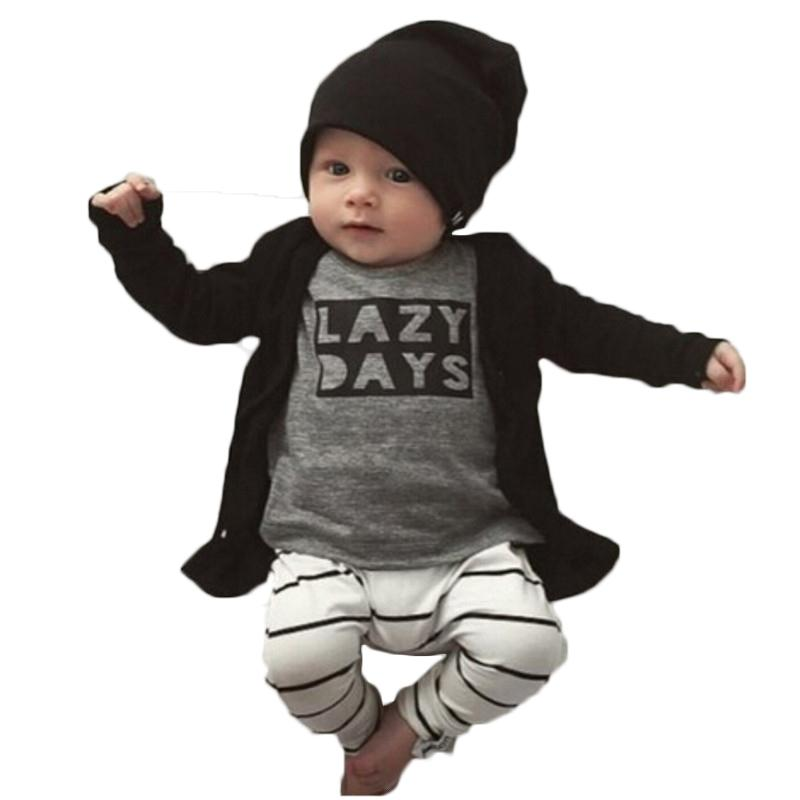 15ae668cb New 2017 Fashion Cotton Infant Clothing Long-sleeved LAZY DAYS Top+ ...