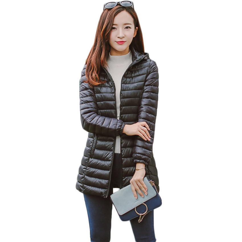 BOoDinerinle плюс размер женская куртка шляпа Может быть демонтирован свет вниз перо хлопок куртка зимняя куртка тонкий базовый слой MY005