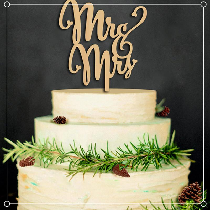 Wood Material Wedding Cake Inserted Card Wedding Cake Inserted Personalized Wedding Decoration Wood Plug Birthday Party Gift