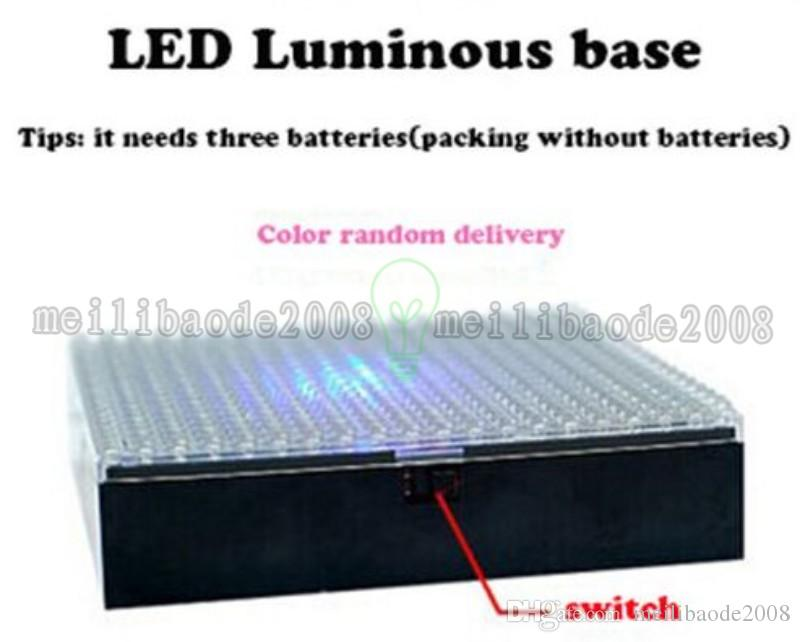 2017 NEW LOZ Diamond Building Blocks Baseplate RGB Colorful LED Light Base DisplayGenuine Stand Plate Board Light Holiday Kids Gift MYY