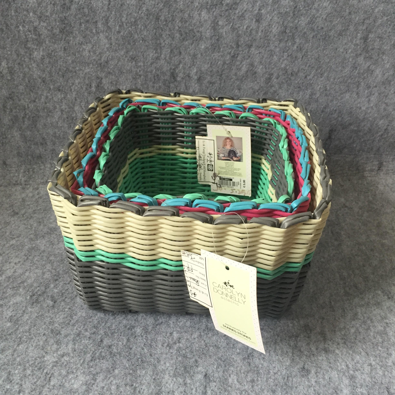 New Design PP Strap Woven Storage Basket Storage Baskets Bins Kids Room  Toys Storage Bags Bucket Clothing