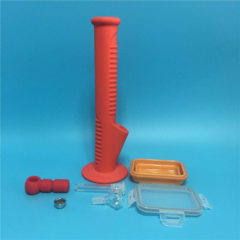 Freies verschiffen 2017 Neue Ankunft Rote farbe silikon bong mit Silikonbehälter und Handpfeife für das Rauchen Dry Herb