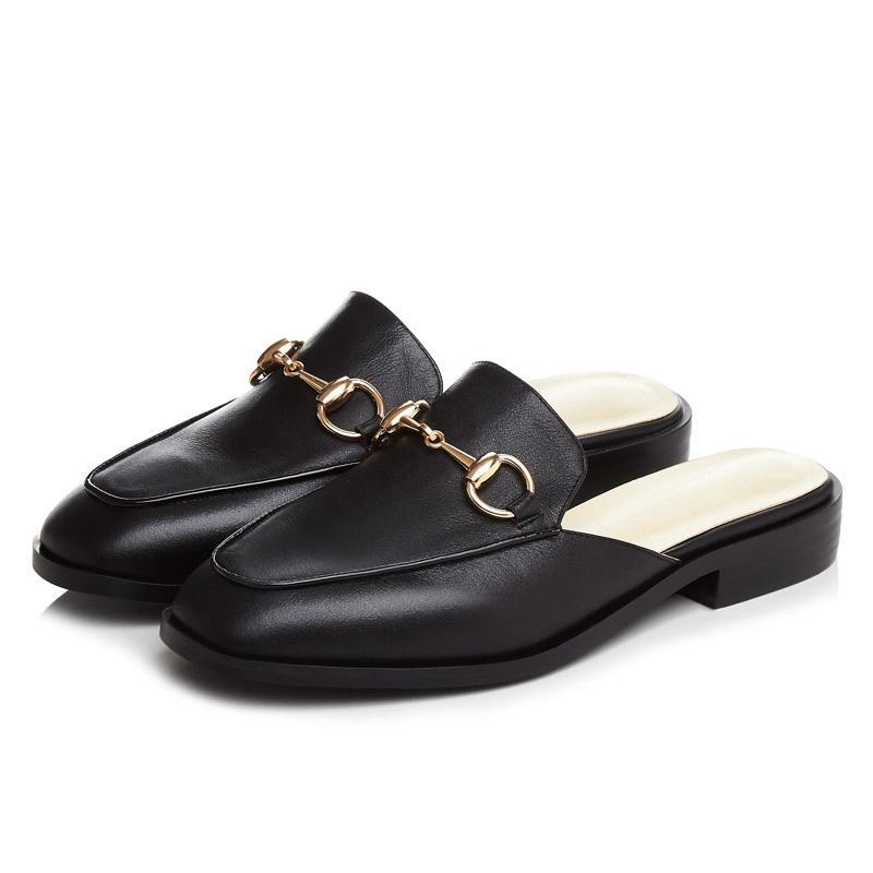 349bf739d65c Wholesale 2016 New Arrival Genuine Leather Women Flats Sandals Mules Shoes  Female Summer Style Slippers Lady Sandals Vintage Shoe Mocassin Espadrilles  ...