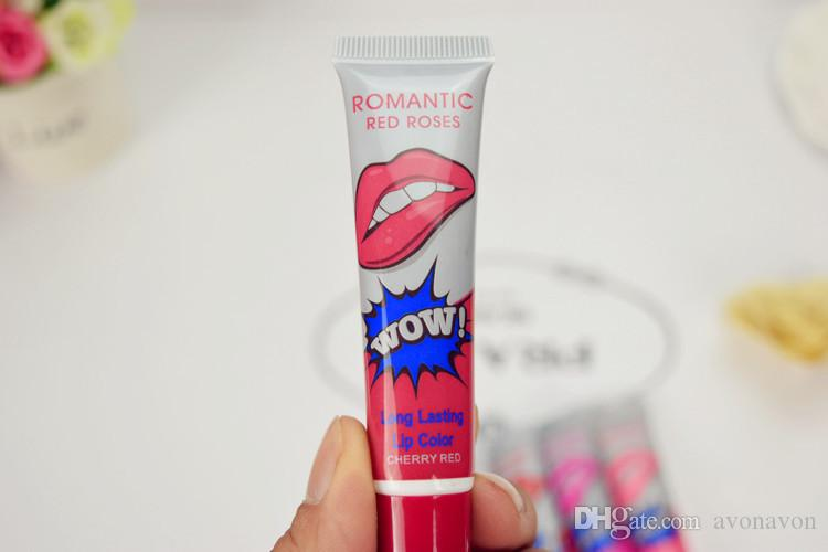 Romantic Bear Lip Gloss Women Make Up Tint WOW Long Lasting Tint Lip Peel Off Lipstick Full lips Tatto Waterproof Lip Gloss B609