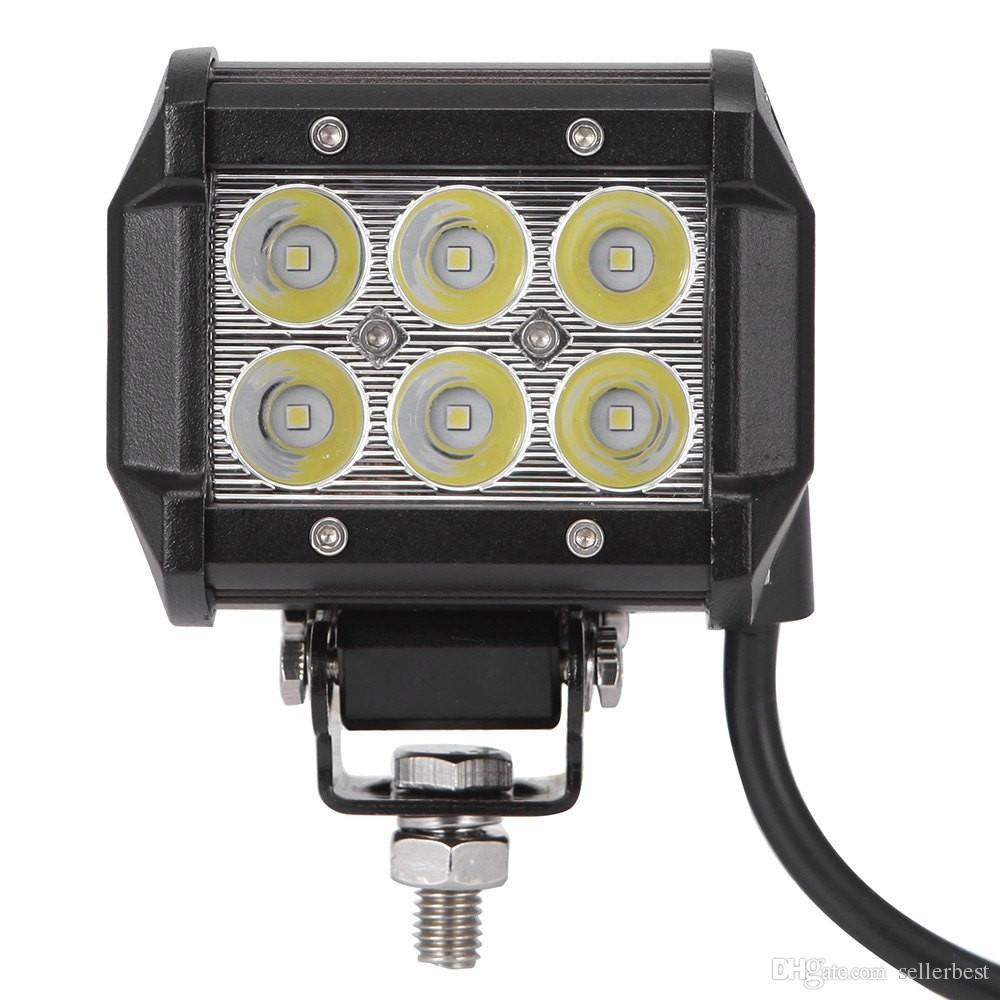 2016 DC 9 - 30V 18W 1800lm 6500K LED Car Work Top Spot luce della lampada impermeabile con 6063 profilo in alluminio staffa in acciaio inox