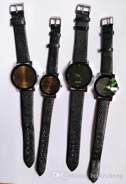 wholesale mix diamond shape leather watch Leisure lovers watch WR031