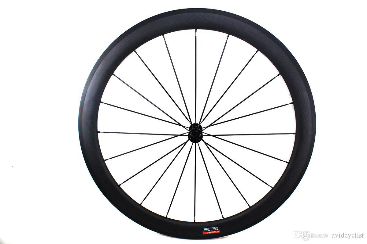 Vélo de route en fibre de carbone wheee 50mm pneu tubulaire route 700C roue avec moyeu Powerway largeur 25mm surface de freinage en basalte