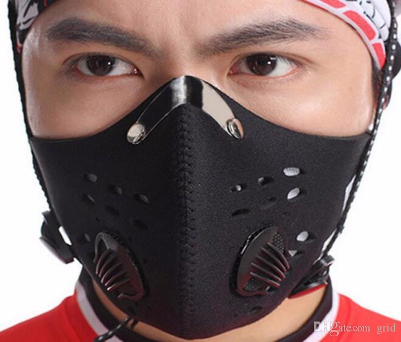 Outdoor Sport Mask Anti fog and haze PM2.5 Cycling Mask Men Women Training Mask Dustproof Anti-pollution Activated Carbon Filter