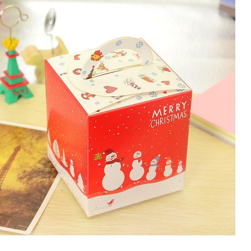 Ücretsiz kargo Noel Arifesi apple kutusu çerez kutusu tatlı gingerbread kutuları şeker hediye paketi malzemeleri WA2059