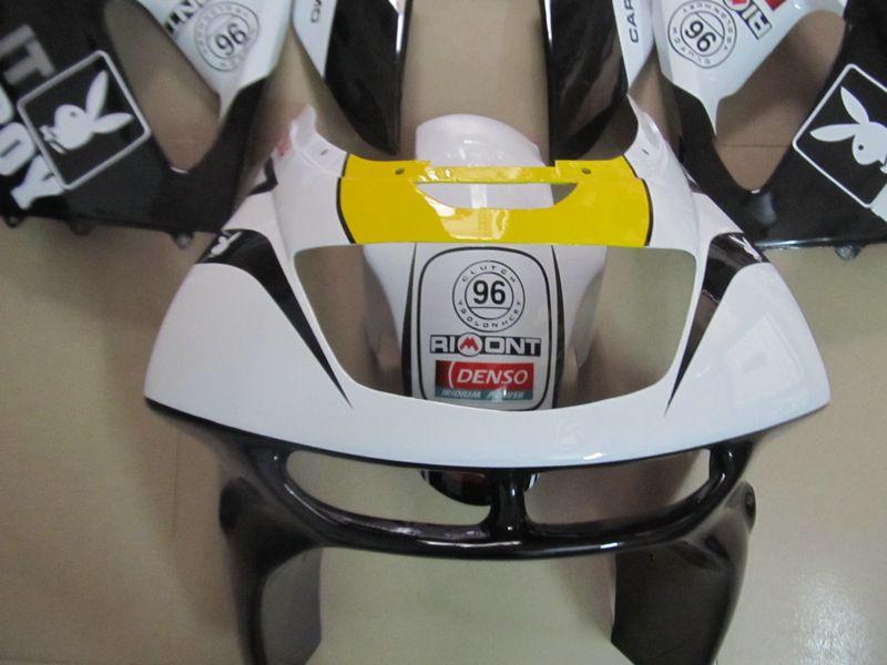 New hot moto parts Fairing kit for Kawasaki Ninja ZX6R 1994-1997 white black fairings set zx6r 94 95 96 97 OT09