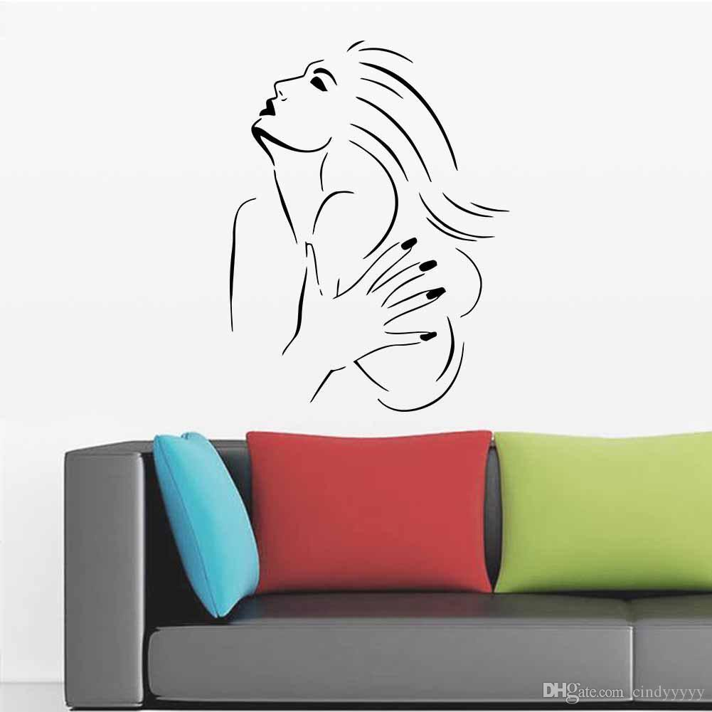 2018 vinyl wall decal sexy girl wall stickers hot hair salon 2018 vinyl wall decal sexy girl wall stickers hot hair salon scissors comb beauty salon living room decoration from cindyyyyy 53 dhgate amipublicfo Images