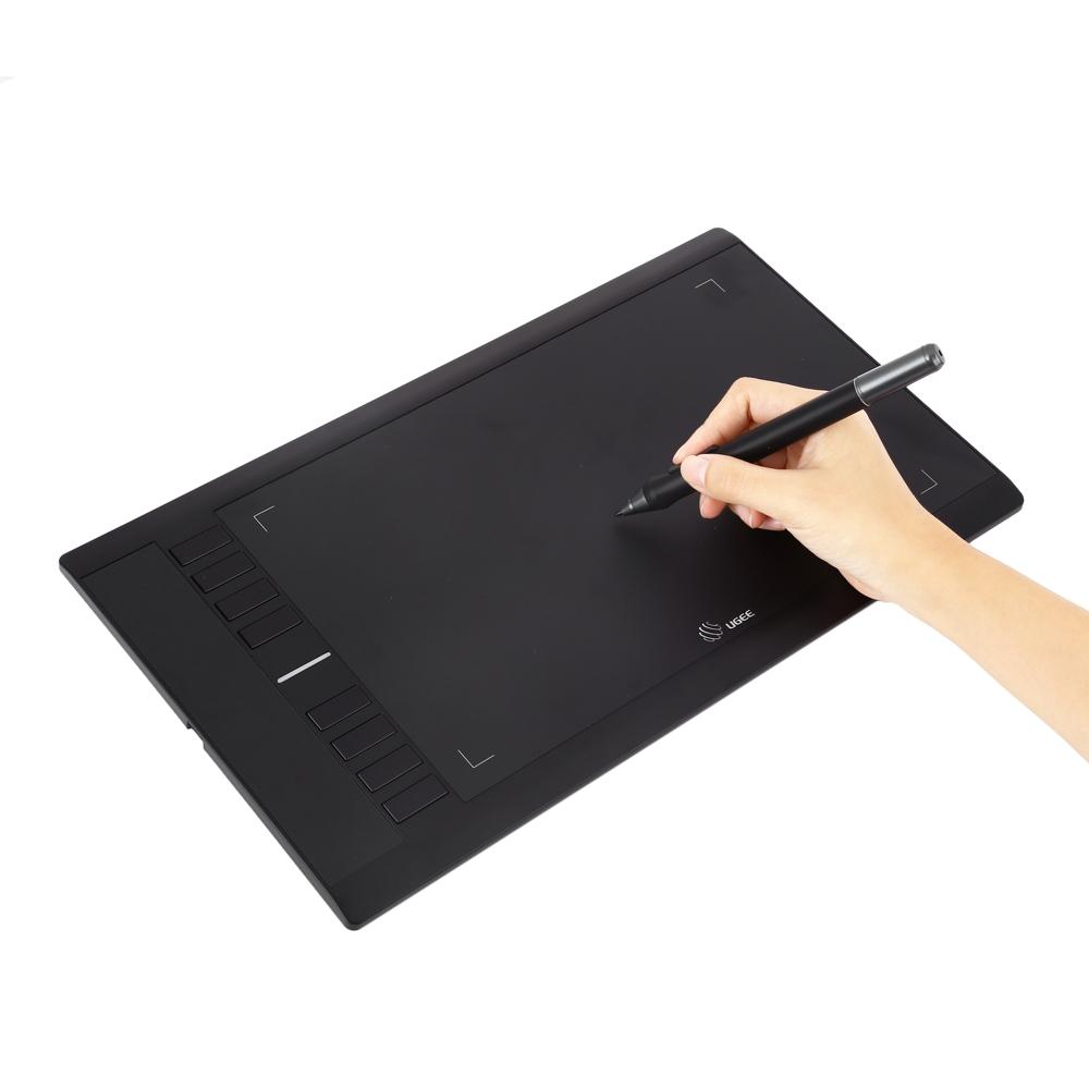 Wholesale- UGEE M708 10 x 6 inch Smart Graphics Tablet Digital Tablet 5080  LPI Resolution P50S Drawing Pen for Digital Writing / Painting