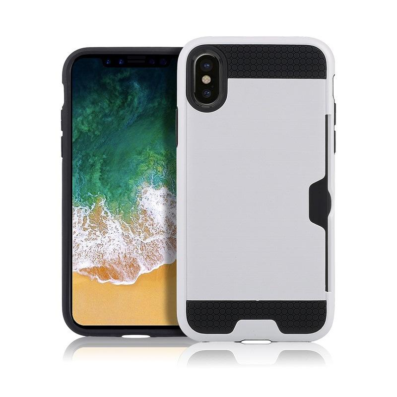 Slot scheda Slot scheda di disegno Slot iPhone Custodia iPhone 8 Cover Silicon Capa Shell iPhone8 Custodia Coque Fundas