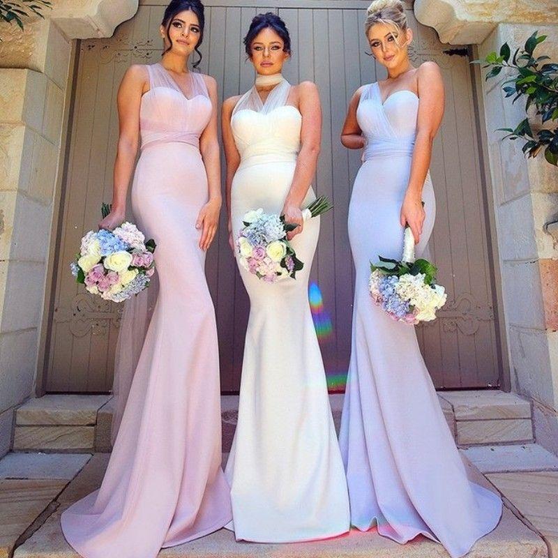 088445a9d90d Convertible Sheer Neck Bridesmaids Dresses 2017 New Arrival Stylish Mermaid  Long Bridesmaid Dresses Cheap Sexy Elegant Wedding Guest Dress Bridesmaid  ...