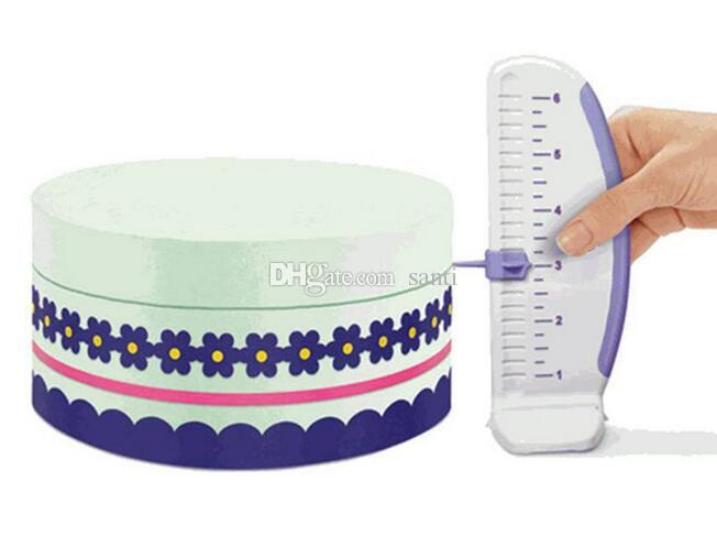 Hot Cake Ruler Plastic Cake Marker DIY Decorative Ruler Leveler Decorator Garland Border Accessory Baking Gauge Tool
