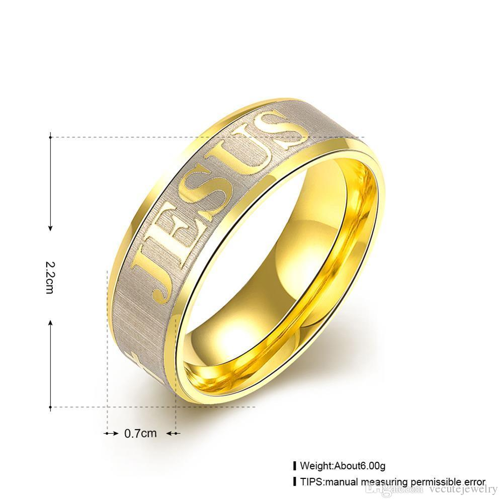 Fashion 316L Titanium Stainless Steel Finger Ring for Man Woman Jesus Cross Rings Fashion God Religious Jewelry Wholesale Price