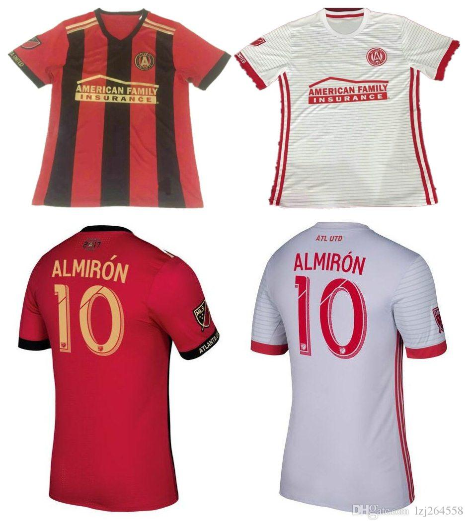 low priced 29724 f1a03 Whosales descuento Atlanta United Jersey Soccer 2018 MLS Jerseys Uniforme,  Chandal ALMIRON Jersey GARZA JONES 17 18 Football Shirt Home Away