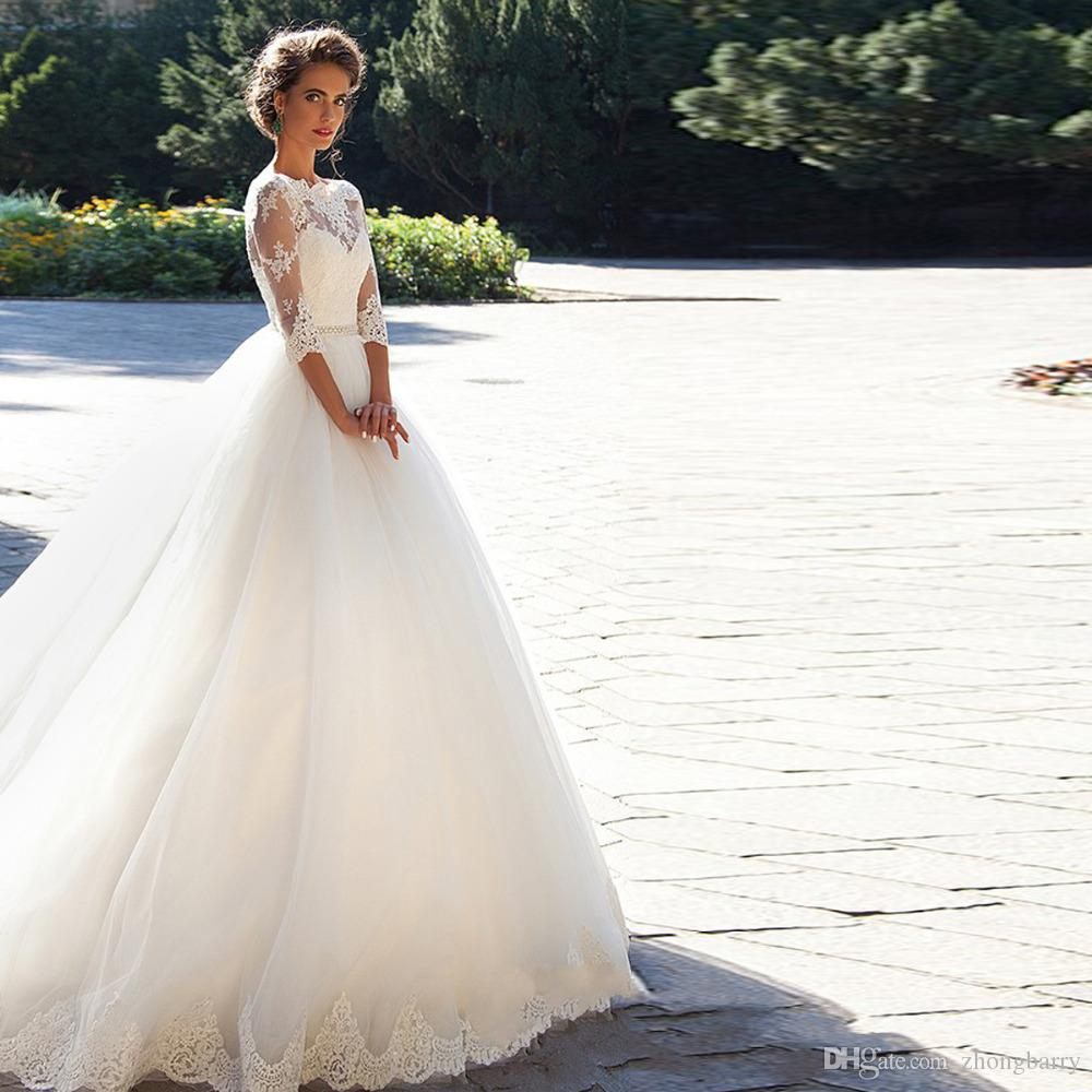 Long sleeves chinese dhgate designs white wedding dresses 2017 long sleeves chinese dhgate designs white wedding dresses 2017 wedding dresses for women organza hollow back bridal dress sweetheart ball gown wedding dress ombrellifo Images