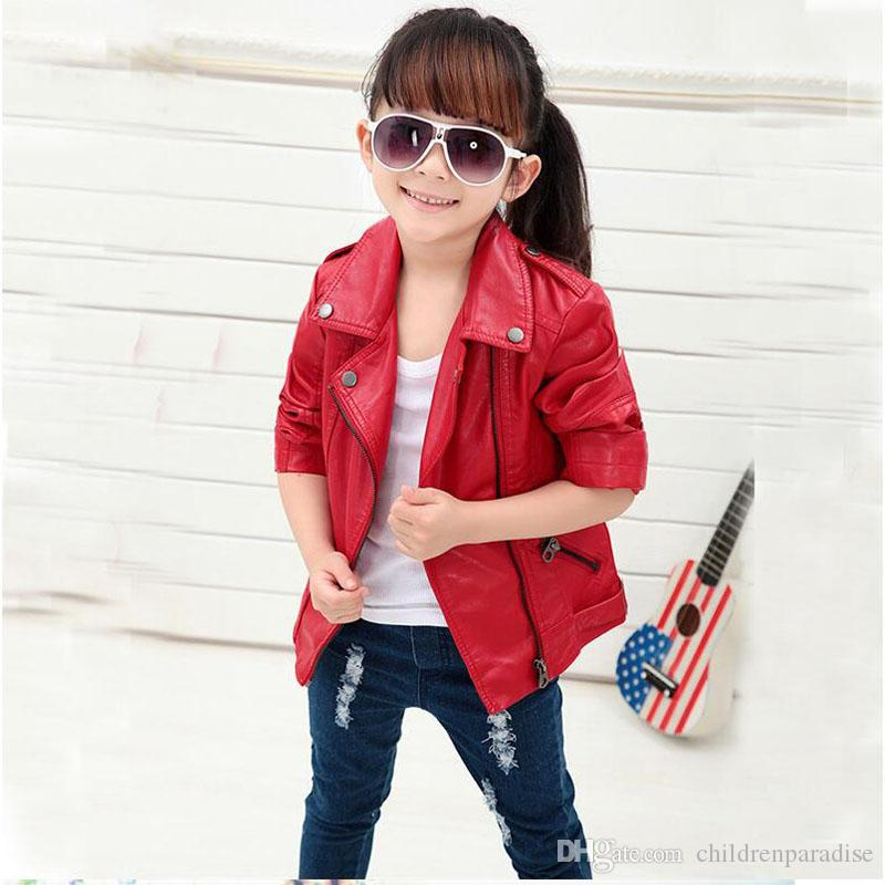 a48313d1e305 Baby Boys Faux Leather Jacket Kids Girls And Coats Spring Kids Jackets Boys  Casual Black Solid Children Outerwear 2017 Children Jackets Boys Rain Jacket  ...