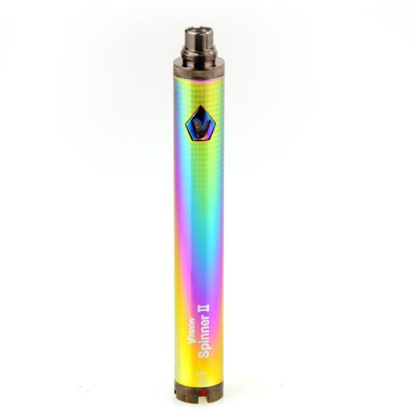 Vision Spinner 2 II Battery 1650mAh Ego C Twist Variable Voltage VV 3.3-4.8V Electronic Cigarette Battery For Ego Thread Atomizers