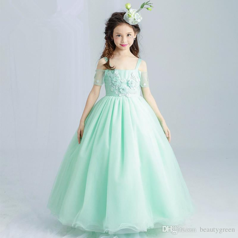 Pretty Princess Fairy Dress Lace Flower Girls Dresses First ...