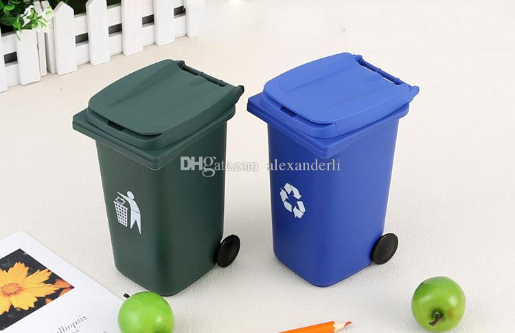 Newest Big Mouth Toys The Mini Curbside Trash Holder And Recycle Table For Pencil Storage Stationery Office Organizer School