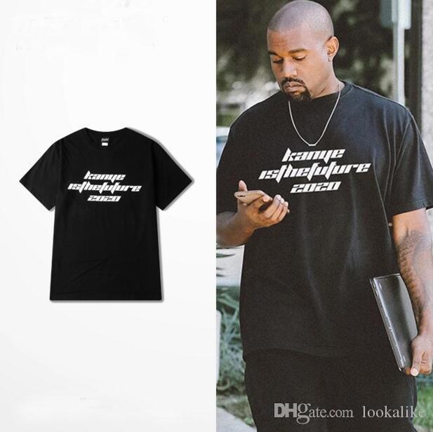 2017 Summer Kanye West T Shirt Letter Print Kanye Is The