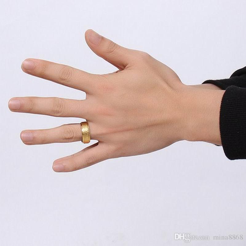 Новый Дизайн Моды Позолоченный Мужчина Женщины Леди Весна Вольфрамовой стали Кольца 3D Прохладный Простой Кольца Карбида Вольфрама для Мужчин Ювелирные Изделия