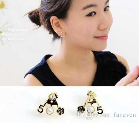 small letter flowers brincos bijoux bijouterie earrings for women