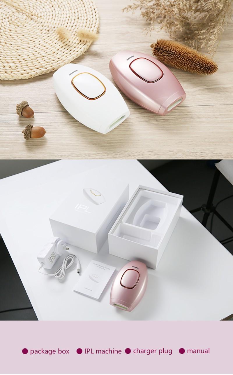 미니 휴대용 IPL 머리 제거 영구 레이저 제모기 펄스 빛 피부 회춘 기계 전신 가정용 레이저 제모기