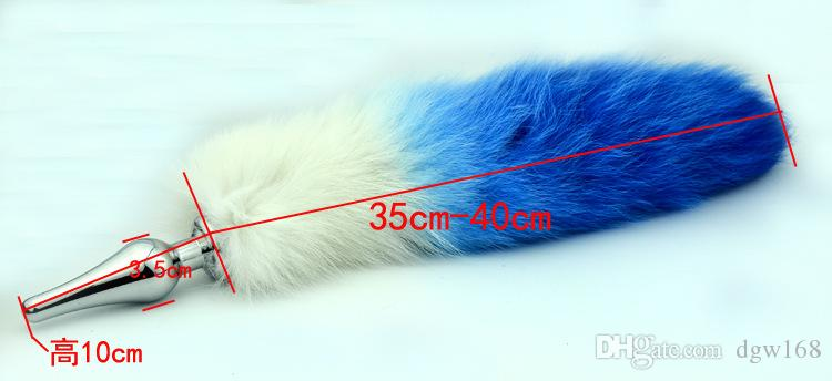 New Stainless Steel Fox Tail Anal Plug Gay Toy For Men /Women Anal Sexy Tails For Sale Sex toy Metal Butt plug