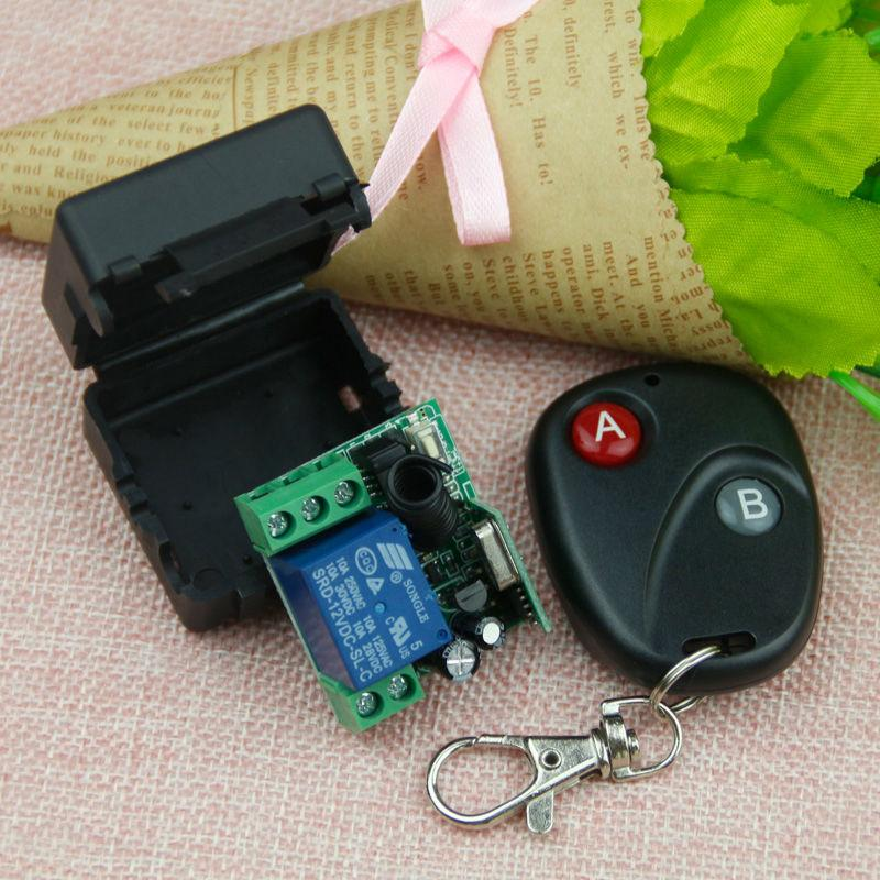2 RF Transmitter 433Mh Wireless Remote Control Relay Switch 12V
