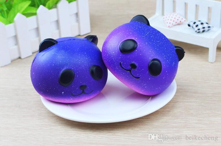 Starry sky universe Pig head PU Pander Squishy Slow Rising Pendant Phone Straps Charms Queeze Kid Toys Cute squishy Bread