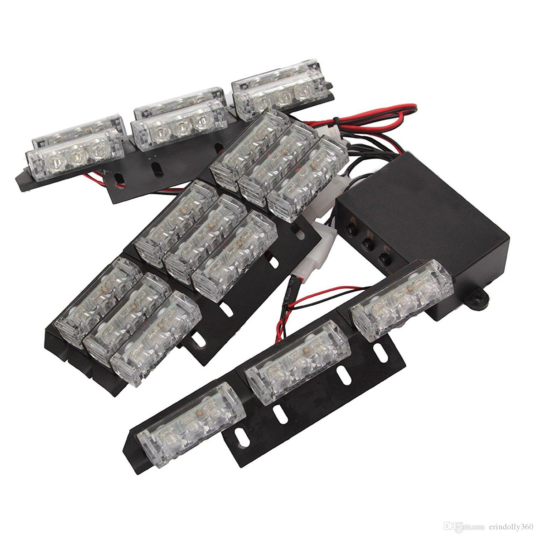 54 LED High Intensity LED Light Bar Law Enforcement Emergency Hazard Warning Strobe Lights For Interior Dash Windshield
