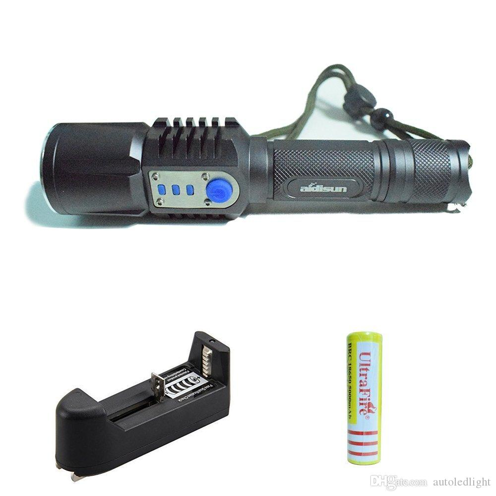 Portable Lighting Rechargeable USB led Flashlight XM-L2 Lantern High Power Torch 3800 lumen Zoomable Flashlight lantern Tactical Torches