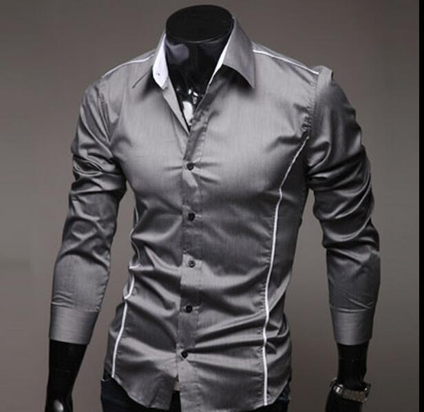 82e7f2a61 2019 2017 Mens Fashion Luxury Stylish Casual Designer Dress Shirt Muscle  Fit Shirts 5 Sizes From Gengbao20909222, $12.08 | DHgate.Com