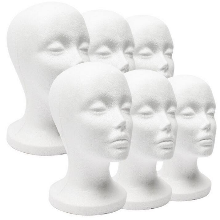 hat female mannequin head,Balaclava Mask Cap Male Styrofoam Foam Mannequin Manikin Head Model Display Stand Wig Glasses Hat IS M00454