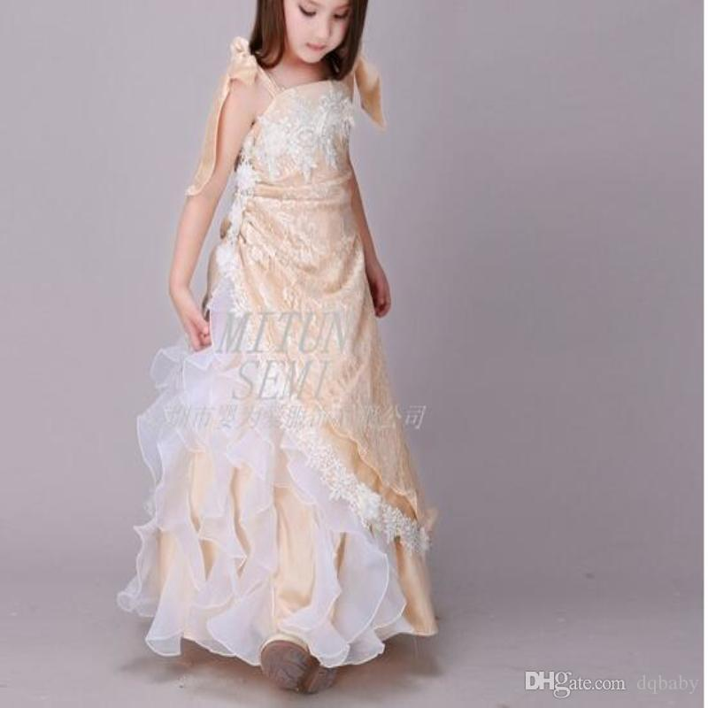 Wholesale Tutu Ball Gowns Flower Girl Dress Kids Beauty Girls Tiered ...