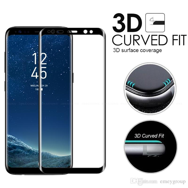 Samsung Galaxy S6 S7 Edge S8 s9 plus note 8 9 Full Coverage Clear Soft TPU Screen Protector Film Cover Curved PHardness Tempered Glass