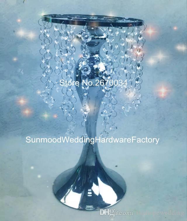 6 خيارات يمكن أن تختار منتج جديد حامل زهرة حامل شمعة الزفاف مع الكريستال hangging للزينة الزفاف