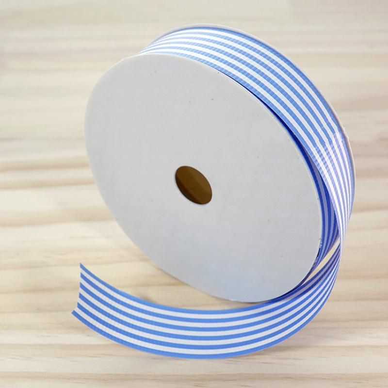 Floral Gift Packaging Silk Striped Satin Ribbons Wedding Party Decoration Gift Wrapping Bouquet Package Supplies 30 mm*50 yard