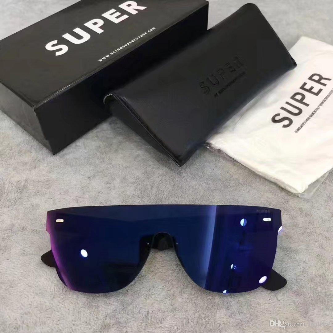 6ae0170e0c Sunglasses Super By Retrosuperfuture Tuttolente Flat Top Blue Regular New  Fashion Designer Sunglasses New With Case Discount Sunglasses Sports  Sunglasses ...