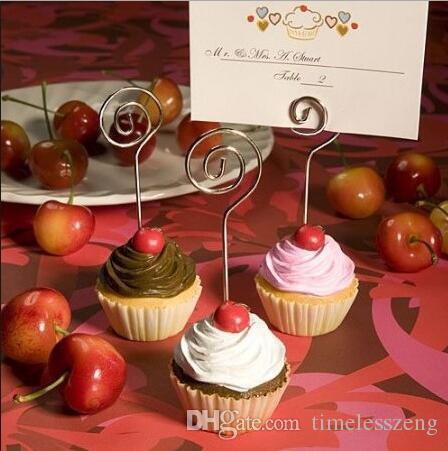 Cake Cup Form Platz Kartenhalter Exquisite Harz Handwerk Platz Kartenhalter Multicolor Hochzeit Partei liefert