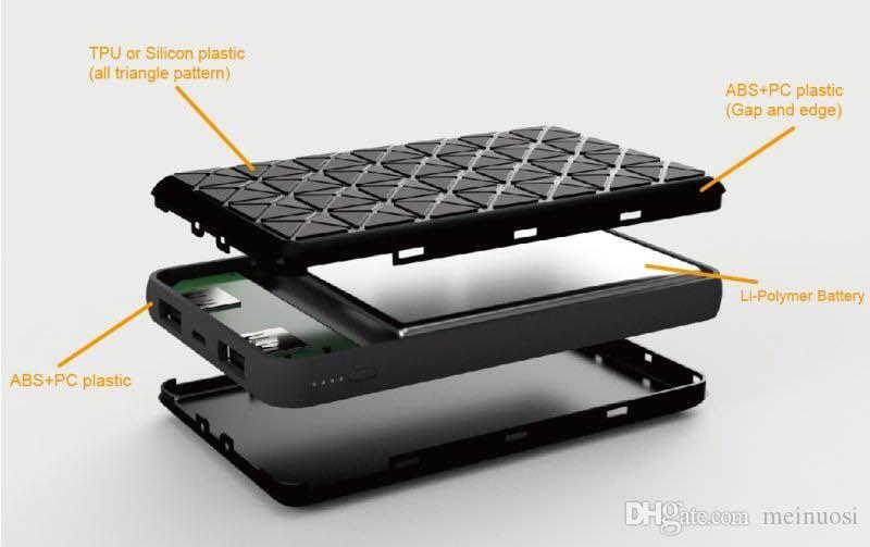 Batería ultrafina ultra delgada delgada de Powerbank 10000mah para el teléfono móvil Tablet PC Batería externa