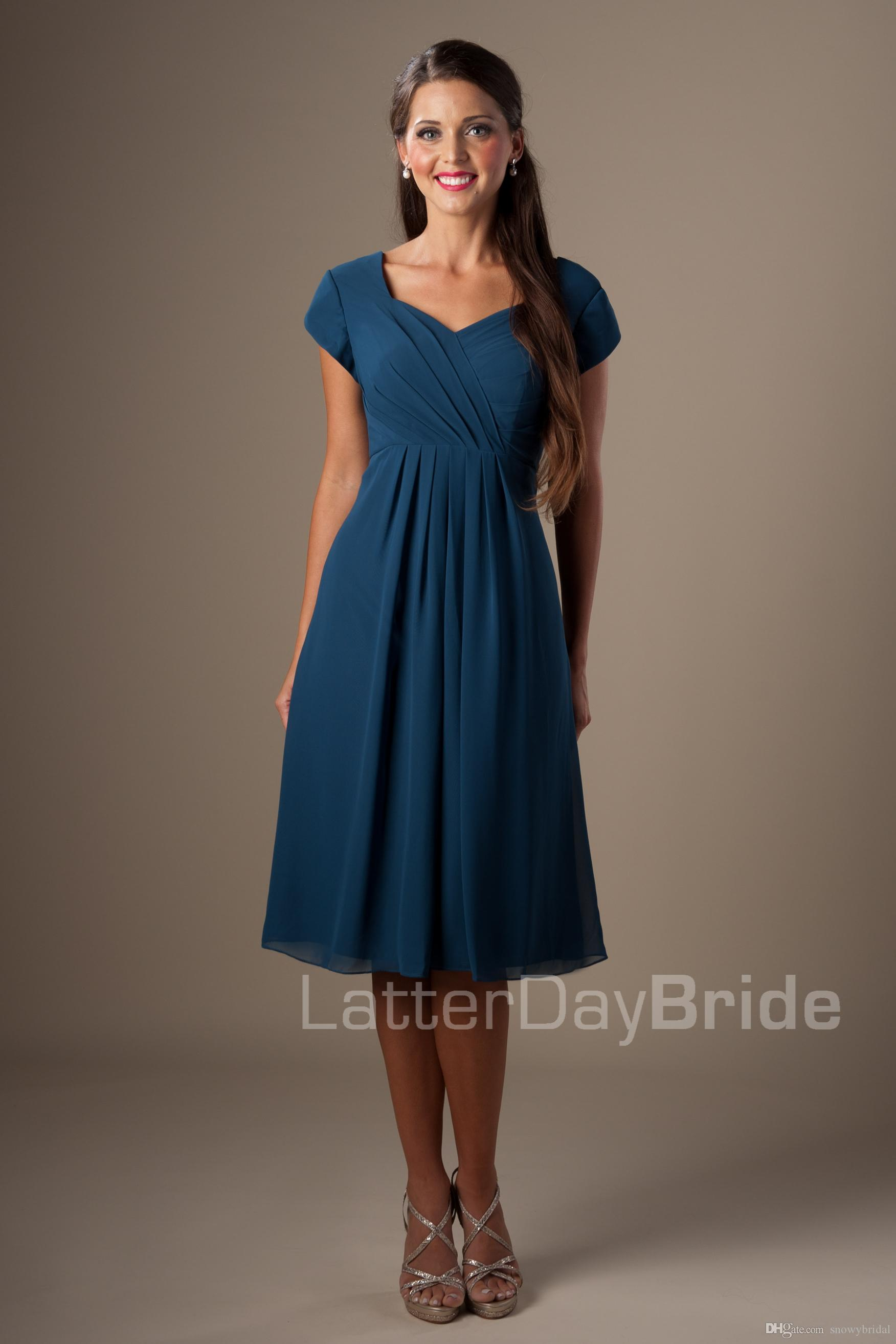 Summer bridesmaid dresses with sleeves