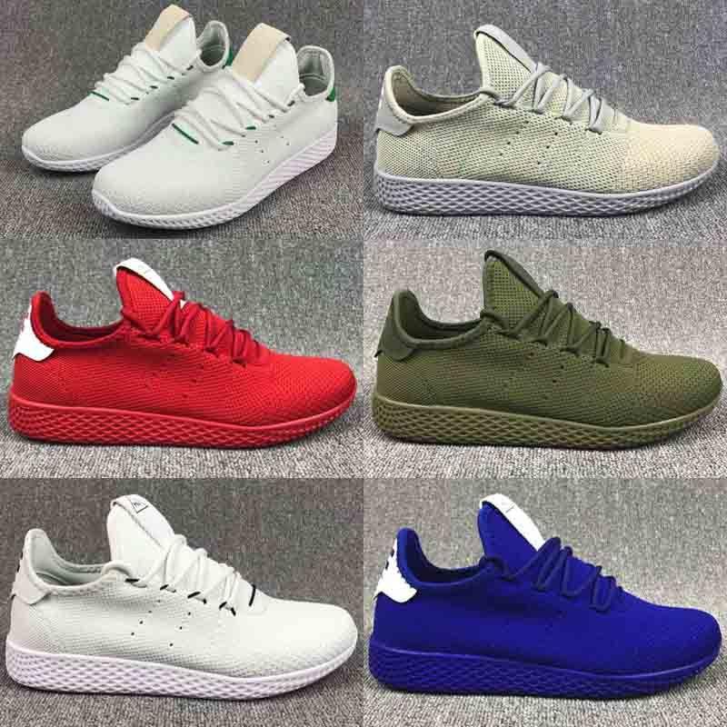 quality design 8b91b cf3a9 Unisex Pharrell Williams Tennis HU Classic Originals Running Shoes  Primeknit Upper Sports Shoes Top Quality Running Sneakers Size 36 44 Mens  Sale Cheap ...