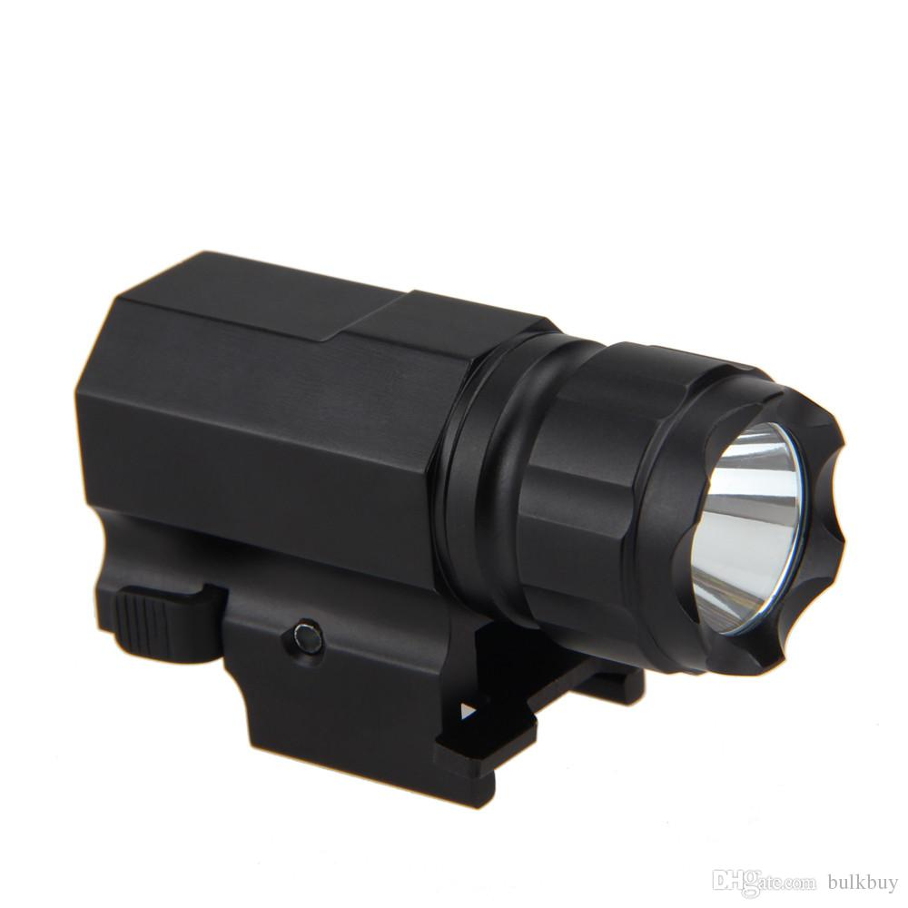200 Lm CREE LED Tactical Gun Flashlight Torch Pistol Handgun Torch Light Lamp with Mount for Hiking Camping Hunting and Other Activities