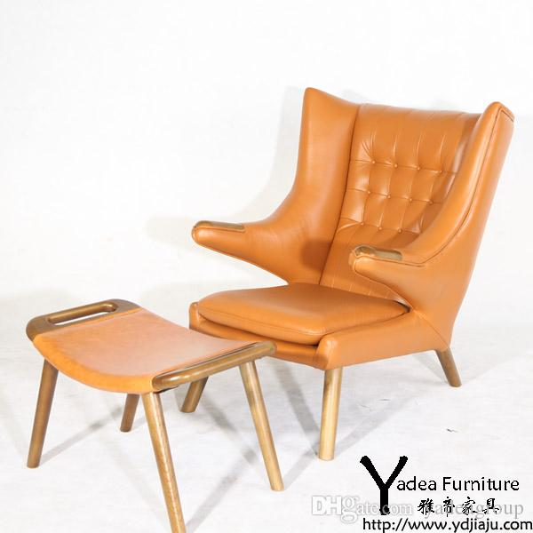 2018 Tan Leather Hans Wegner Papa Bear Chair Reproduction,Originally  Designed By Hans Wegner Pv054 From Yadeagroup, $502.52 | Dhgate.Com