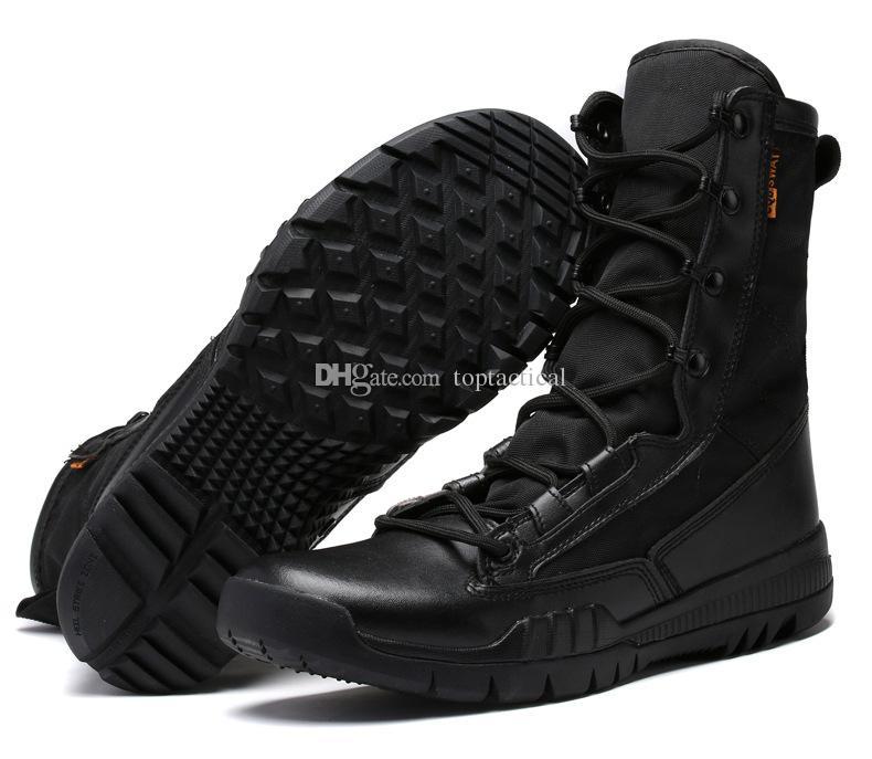 Scarpe da aviatore tattiche da combattimento tattiche ultra leggere Scarponi da arrampicata da combattimento Stivali da uomo alti in altezza Stivali militari di sicurezza tattici