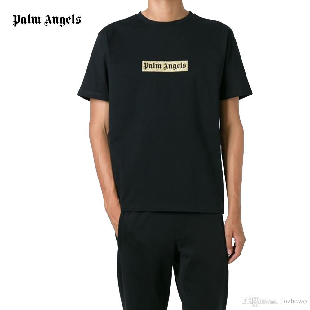 Palm Angels Logo Print Boxy T Shirt Men T Shirt Printed Slogan ...
